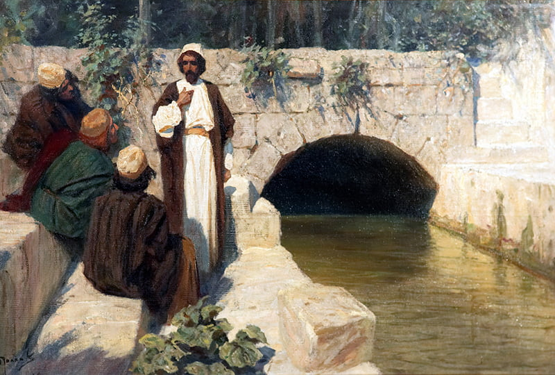 """В. Д. Поленов """"За кого меня люди почитают?"""" из цикла """"""""Из жизни Христа"""" 1900 год"""