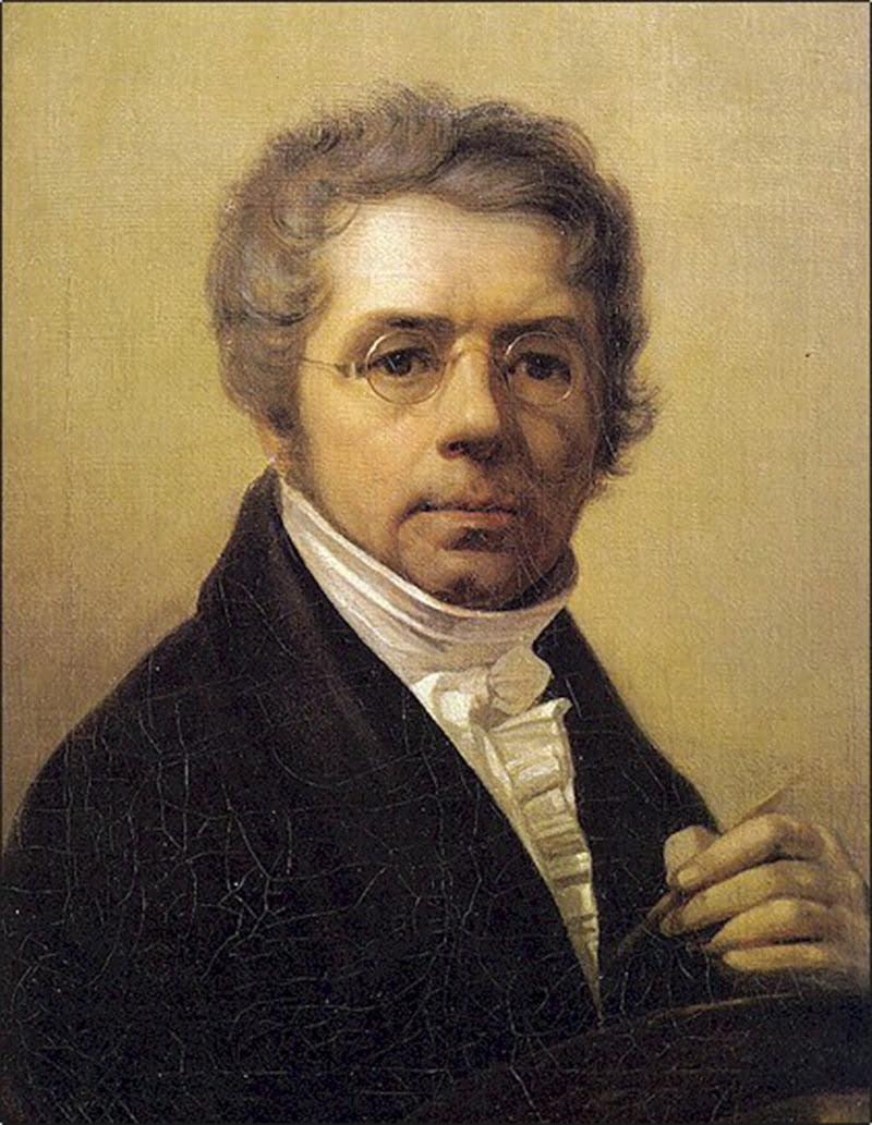 Венецианов.Автопортрет 1811 год
