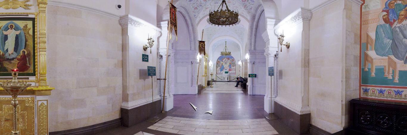 нижняя церковь галерея в Храме Христа Спасителя
