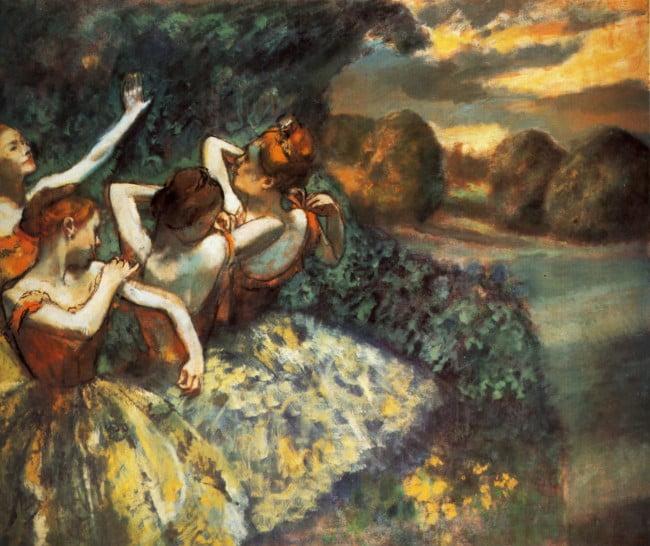 """Эдгар Дега """"Четыре танцовщицы"""" 1899. Национальная галерея искусств (Вашингтон)"""