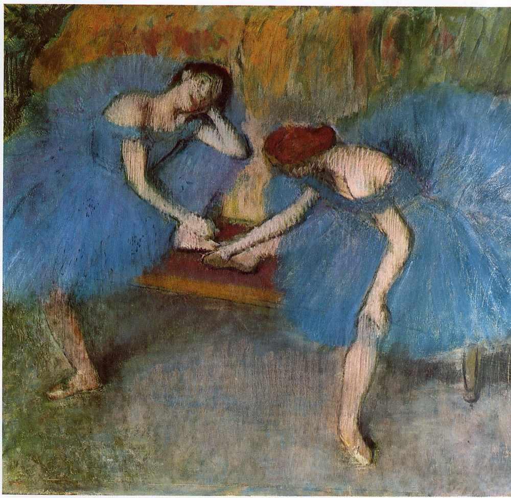 Эдгар Дега. Две отдыхающие танцовщицы (1905—1910), Музей Орсе, Париж