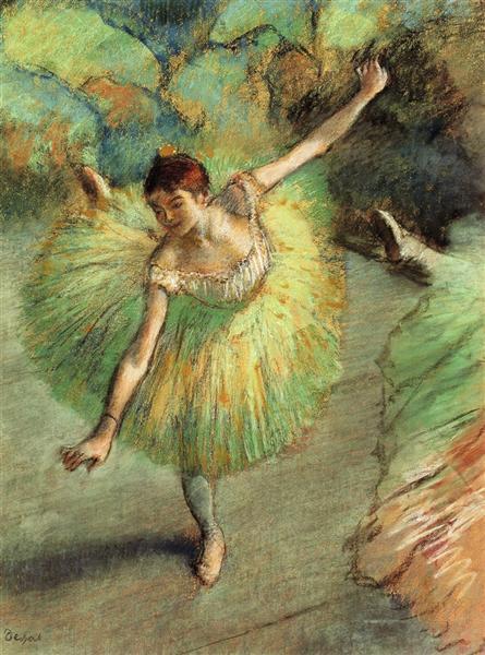 Эдгар Дега. танцовщика выгибается. 1883