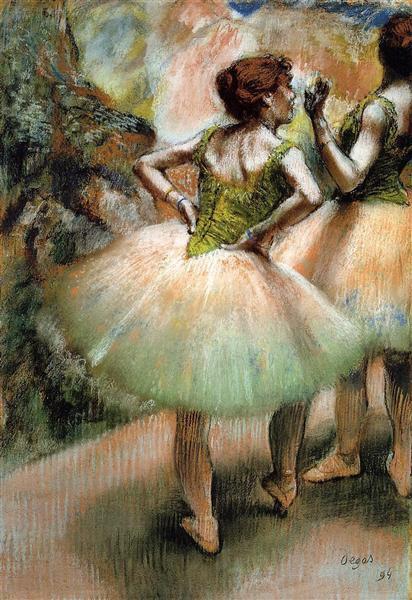 Эдгар Дега. танцовщицы в розовом и зеленом. 1894. Частное собрание