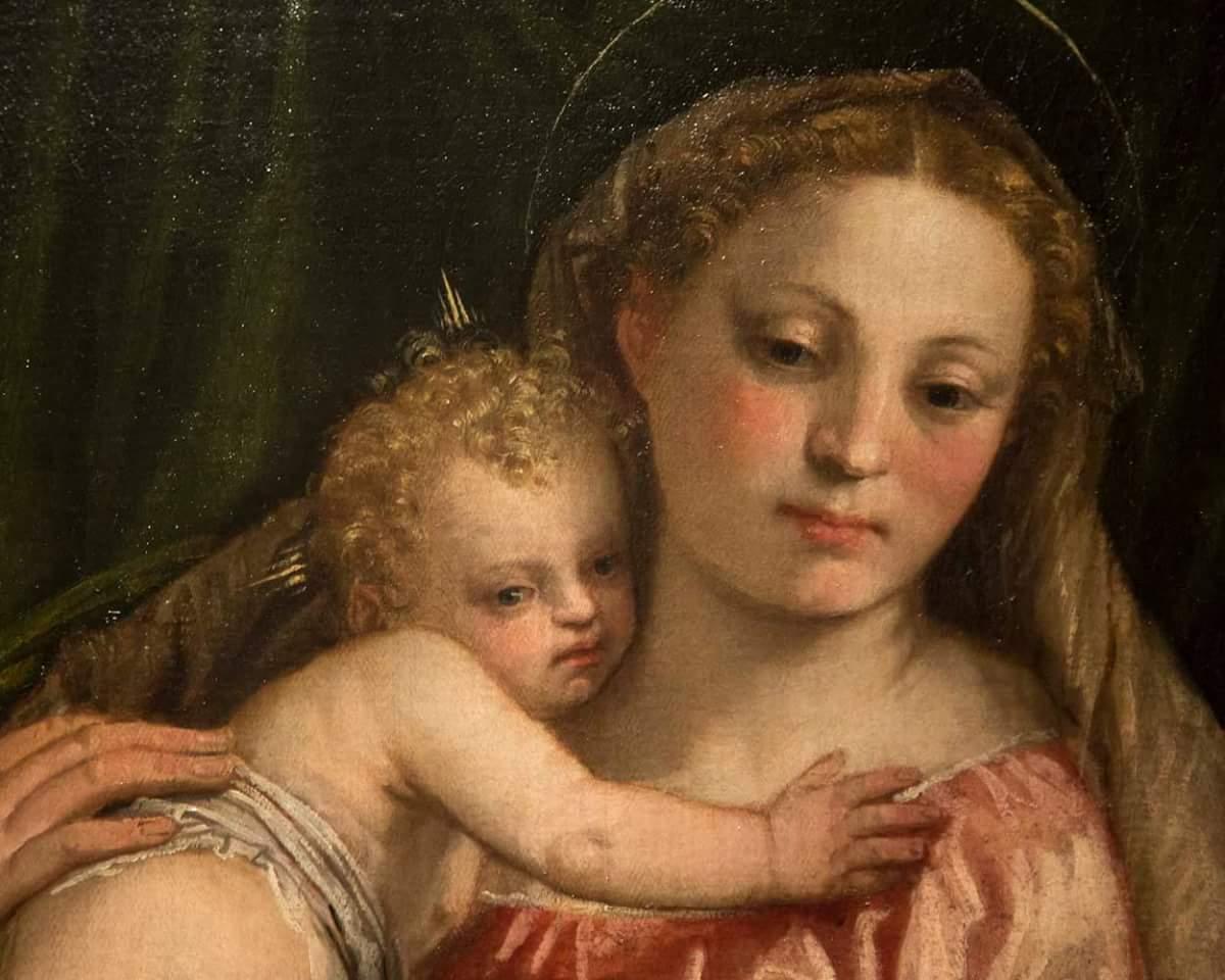 """Паоло Веронезе (1528–1588). Фрагмент картины """"Мадонна с Младенцем, святыми Петром и Екатериной Александрийской"""" Около 155 года. Холст, масло"""