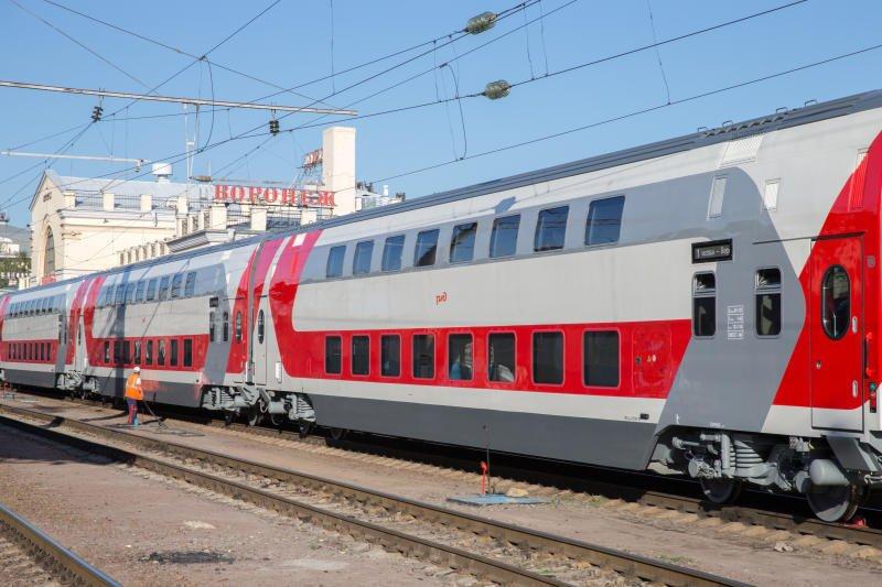 РЖД в поезде. Двухэтажный поезд