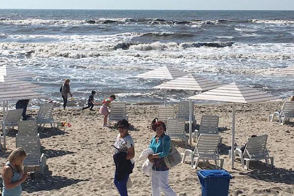 Пляж в Янтарном (Балтийское море)