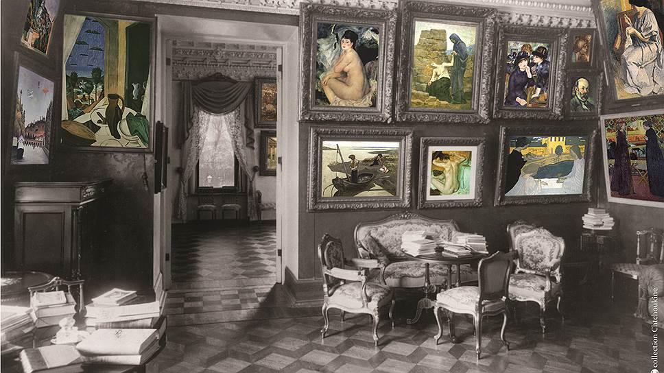 Так выглядел зал импрессионистов в щукинском особняке (реконструкция Кристины Делок-Фурко)