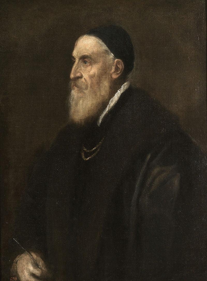 """Тициан Вечеллио """"Автопортрет"""". 1567. Музей Прадо (Испания)"""