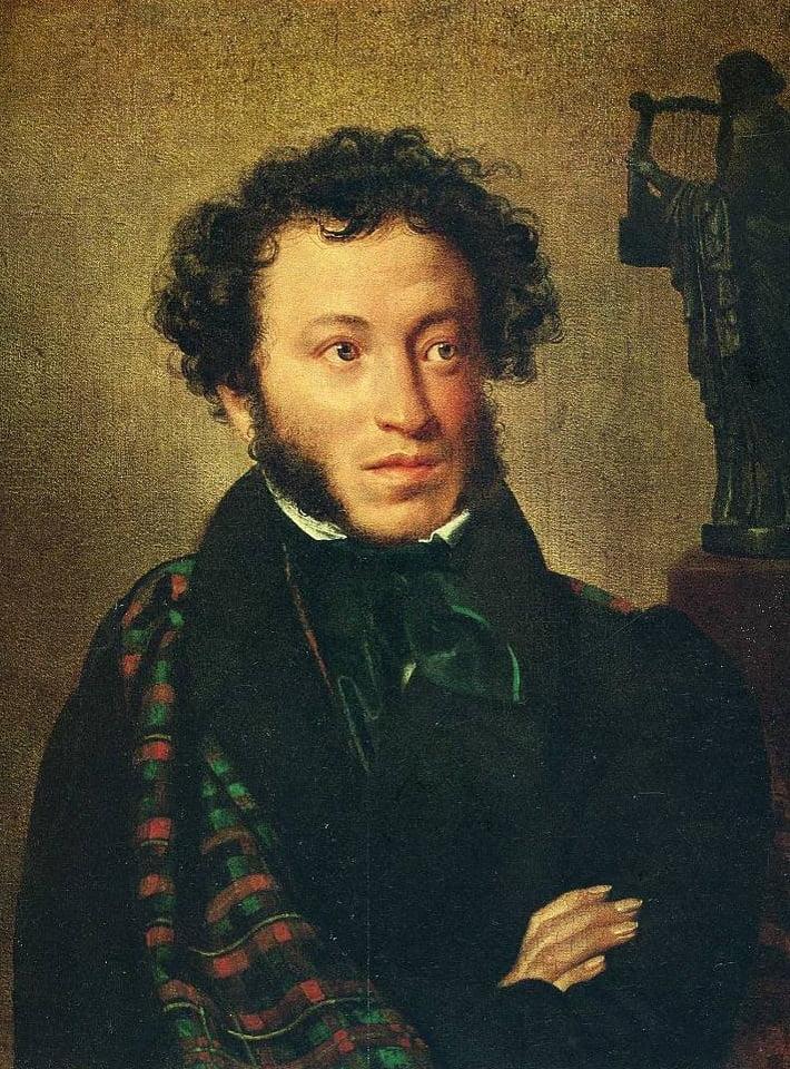 Портрет Александра Пушкина работы Ореста Кипренского 1827 (Третьяковская галерея)