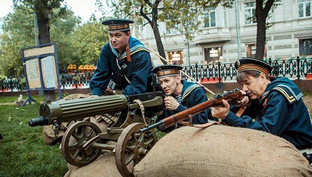 Защитники Севастополя на Чистопрудном бульваре. Фестивале Времена и эпохи