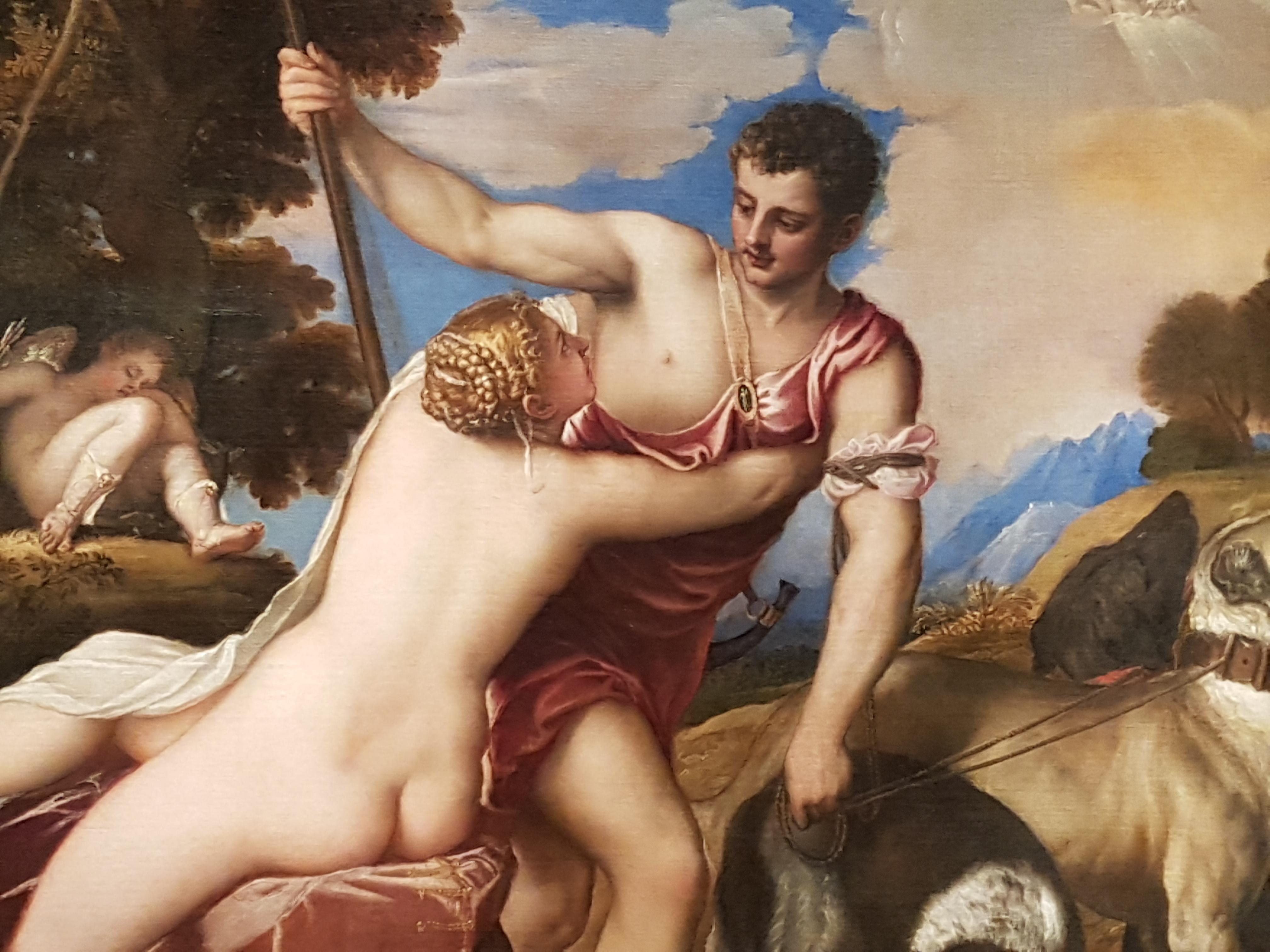 Венера и Адонис Тициан
