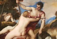 Венера и Адонис Тициана