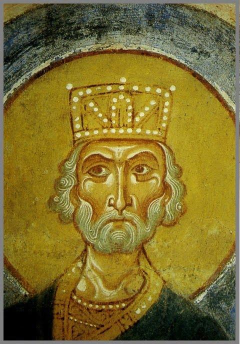 Пророк Давид Успенской церкви 12 века в Старой ладоге