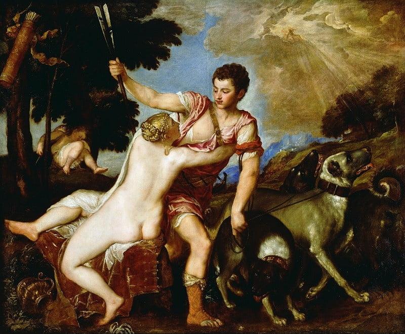 Венера и Адонис Тициан_Музей Пола Гетти в Лос-Анджелесе