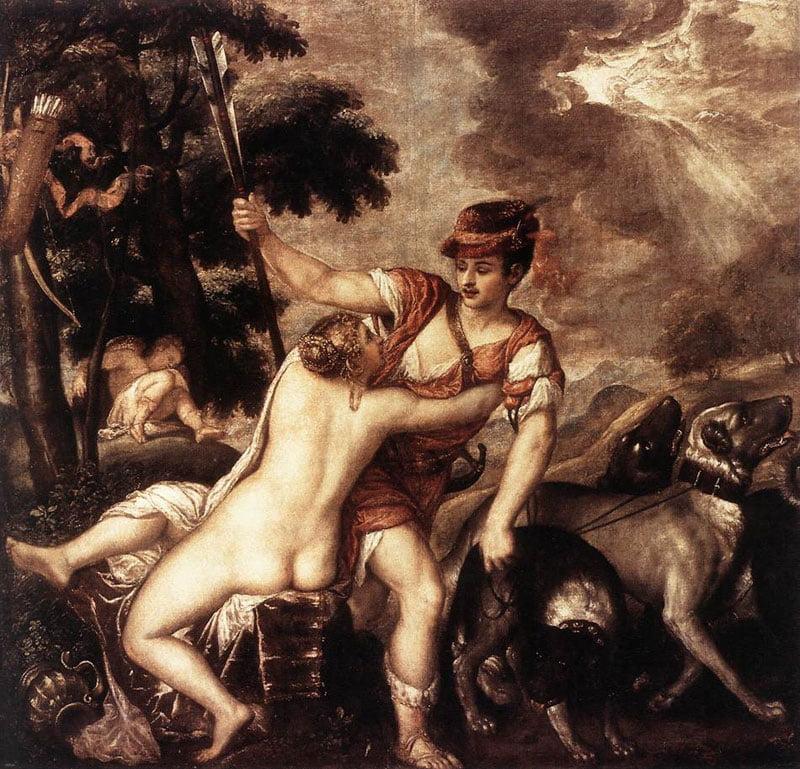 Венера и Адонис. Рим, Национальная галерея Античного искусства