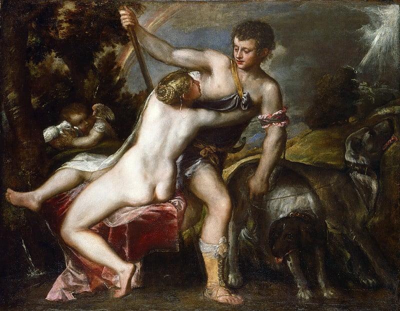 Венера и Адонис. Тициан. Национальная галерея Вашингтон
