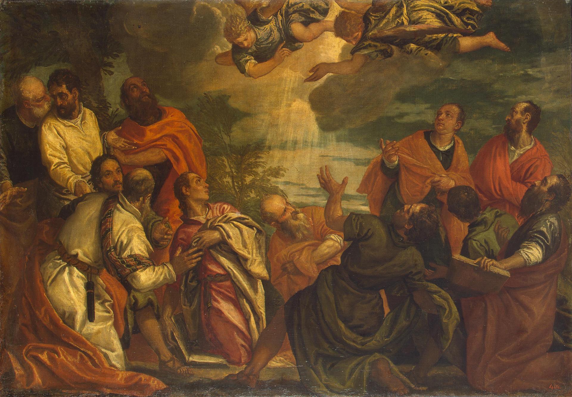 Бенфатто дель Фризо, Альвизе_Cошествие Святого духа на Апостолов. Картина парная к Воскресению Христа Веронезе_Эрмитаж