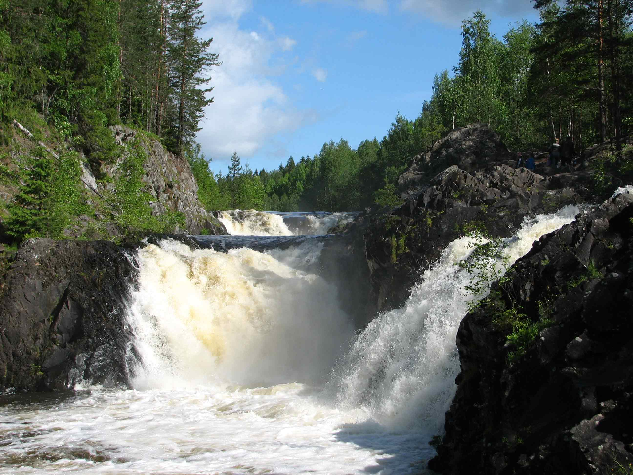Кивач водопад