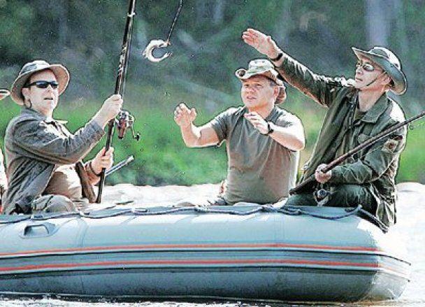Рыбалка Путина с князем монакским Альбером Вторым