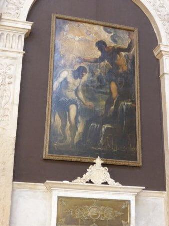 Крещение Христа Тинторетто в стенах церкви Сан Сильвестро (Венеция)