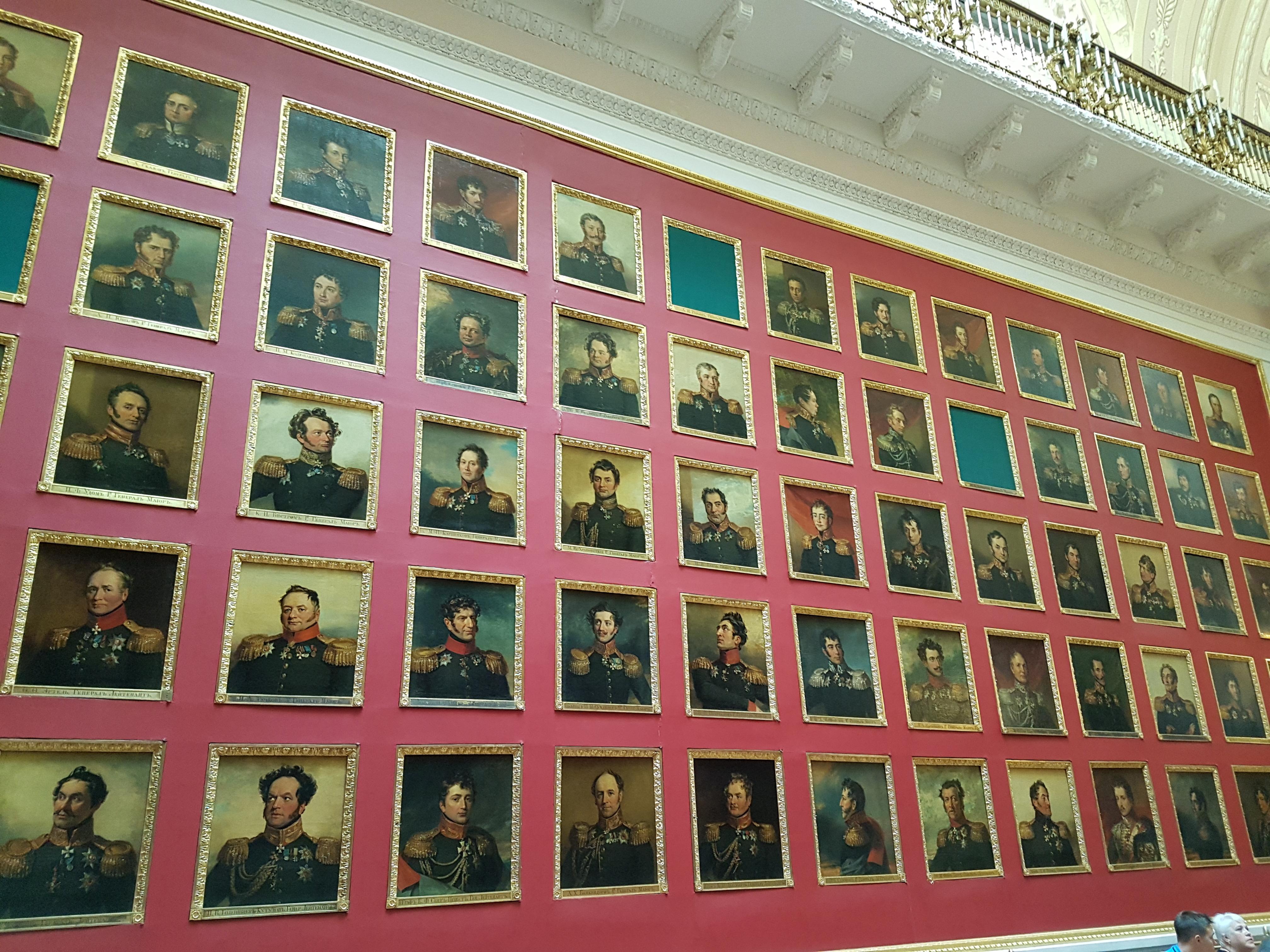 Военная галерея памяти героев 1812 года в Эрмитаже