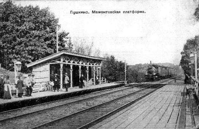 Фотография станции Мамонтовская в городе Пушкино. Ярославская железная дорога
