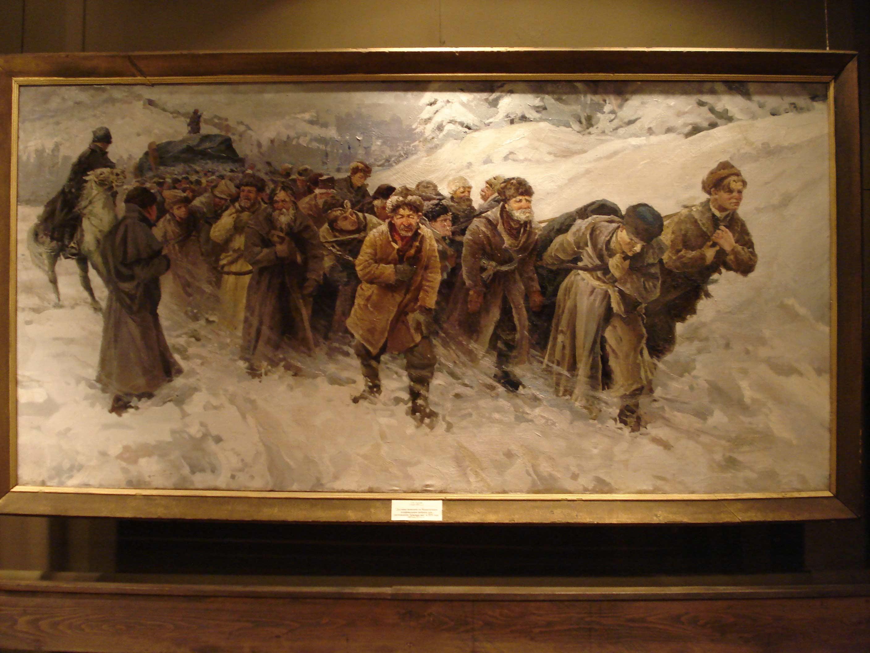 Колыванский музей истории камнерезного дела на Алтае : Картина Г. Тарского «Доставка камня для «Царицы ваз»
