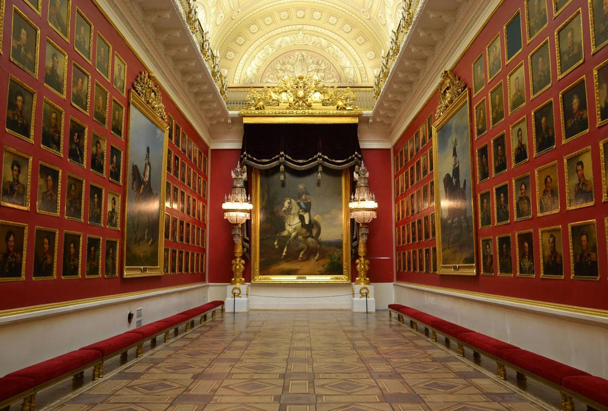 Военная галерея памяти героев 1812 года в Эрмитажа