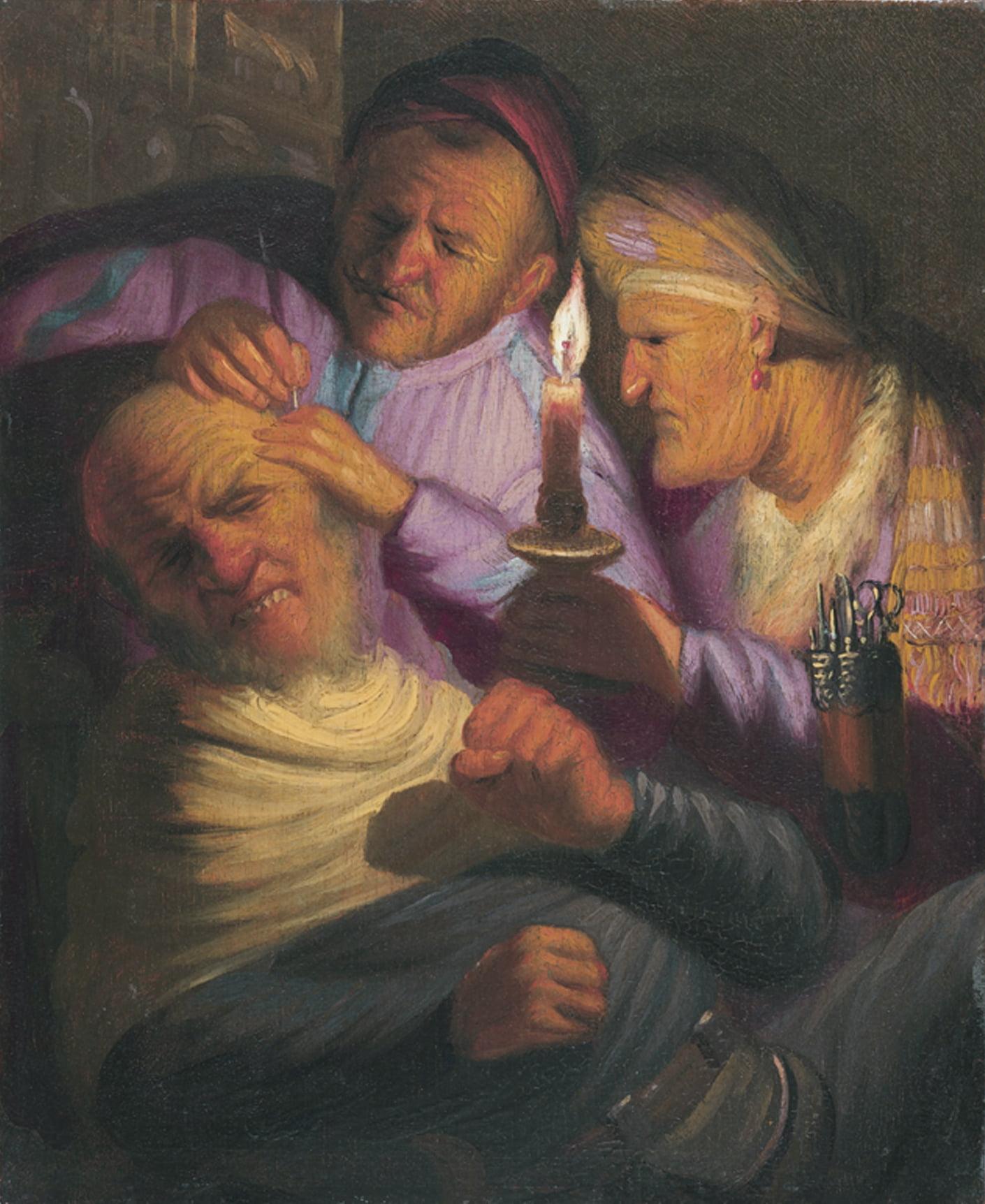 "Рембрандт ""Аллегория осязания"""