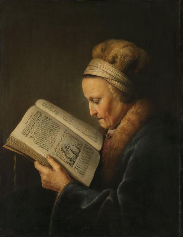 """Геррит Доу. """"Старая женщина (Мать Рембрандта)"""