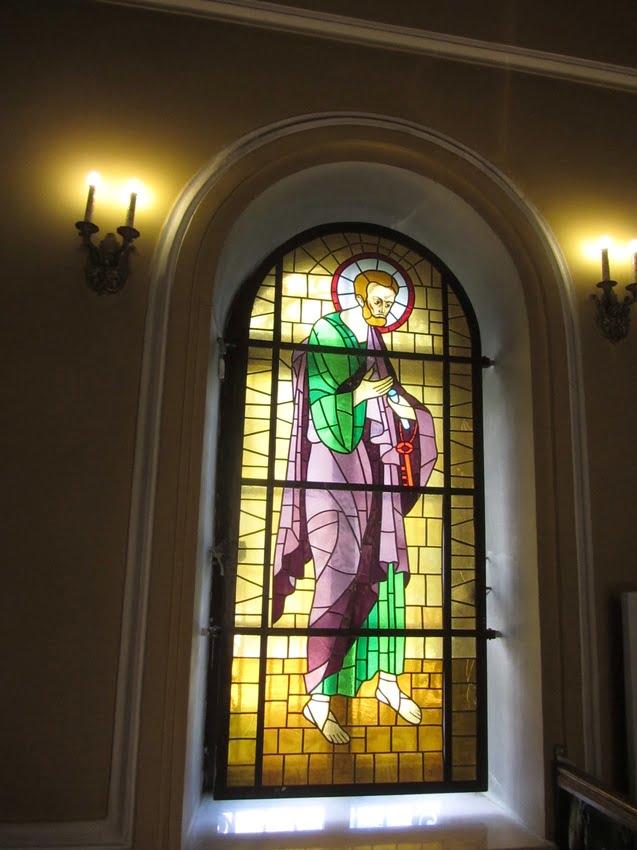 Любань. Собор Петра и Павла. Витраж