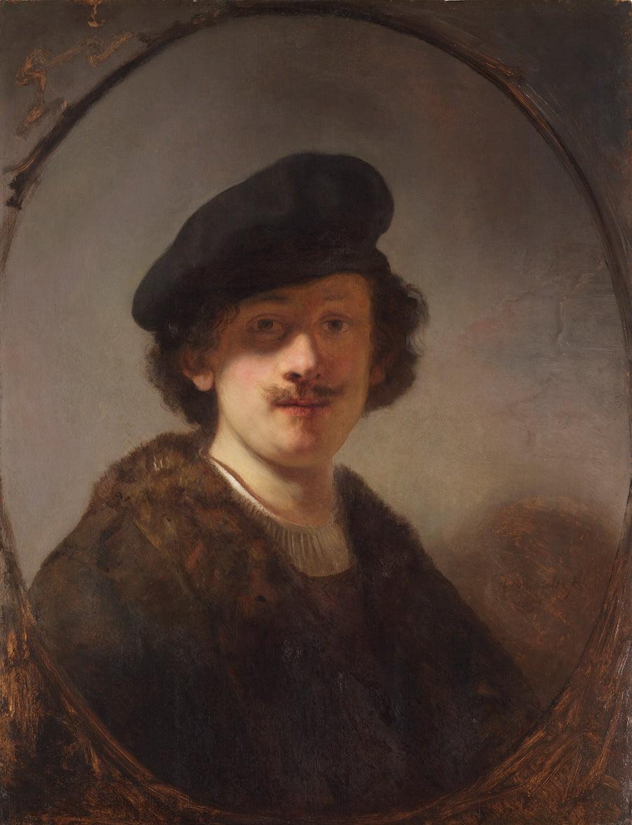 """Рембрандт. """"Автопортрет с затененными глазами"""""""