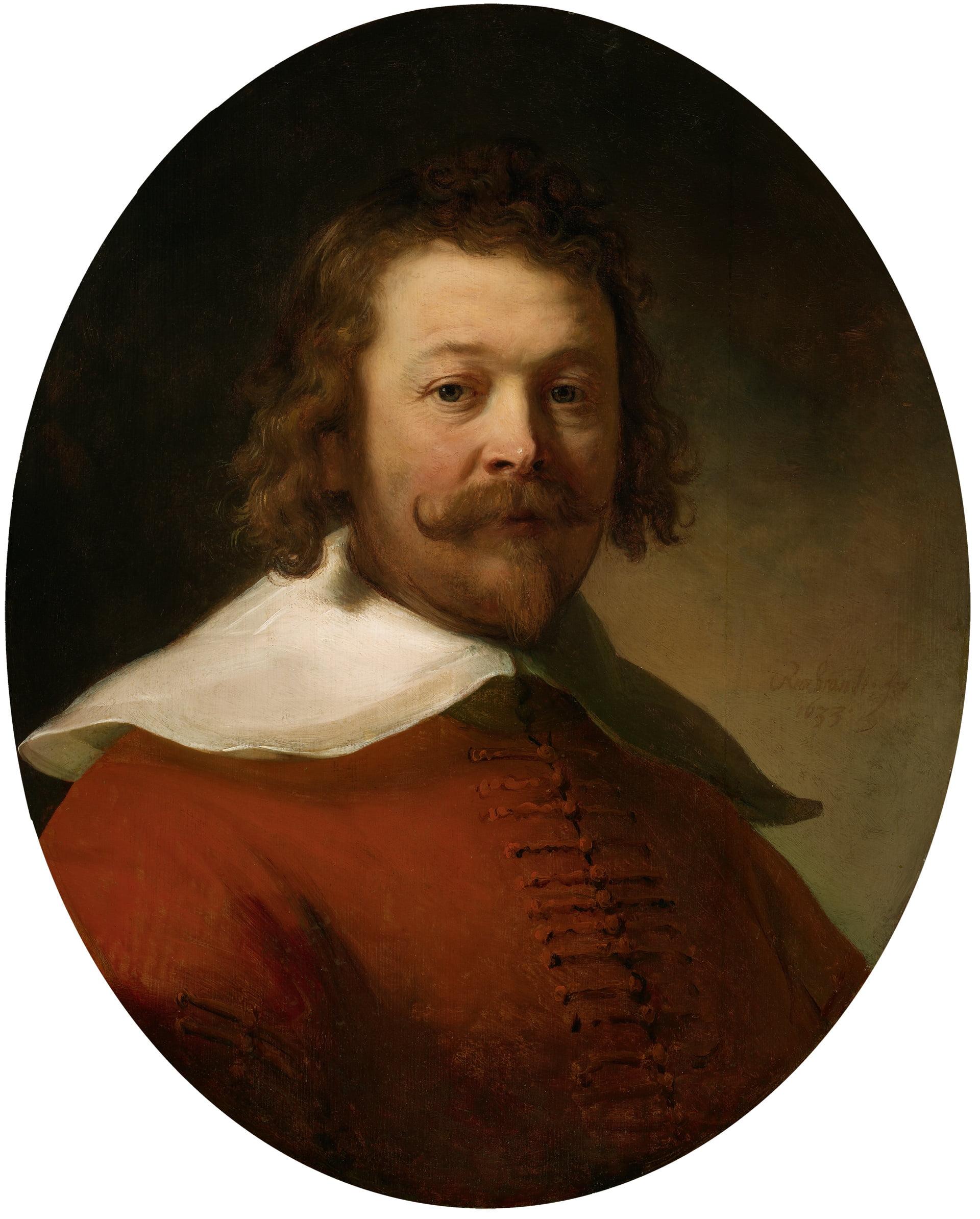 """Рембрандт. """"Портрет мужчины в красном камзоле"""""""