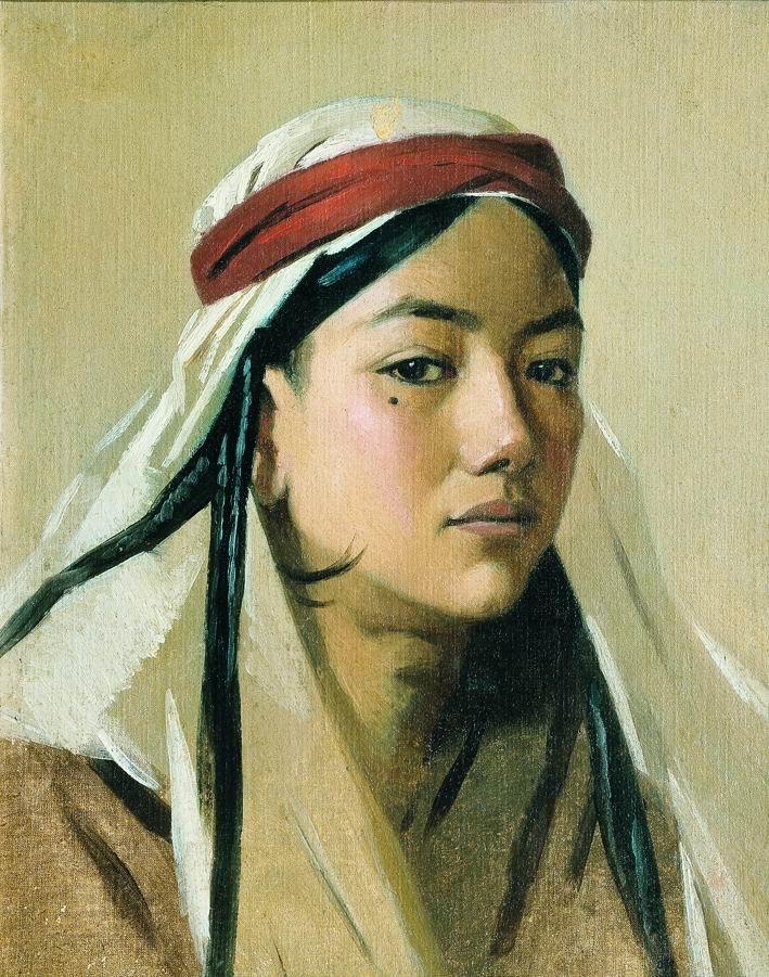 ПОРТРЕТ БАЧИ ( 1878 ) - мальчик переодетый девушкой для участия в танцах