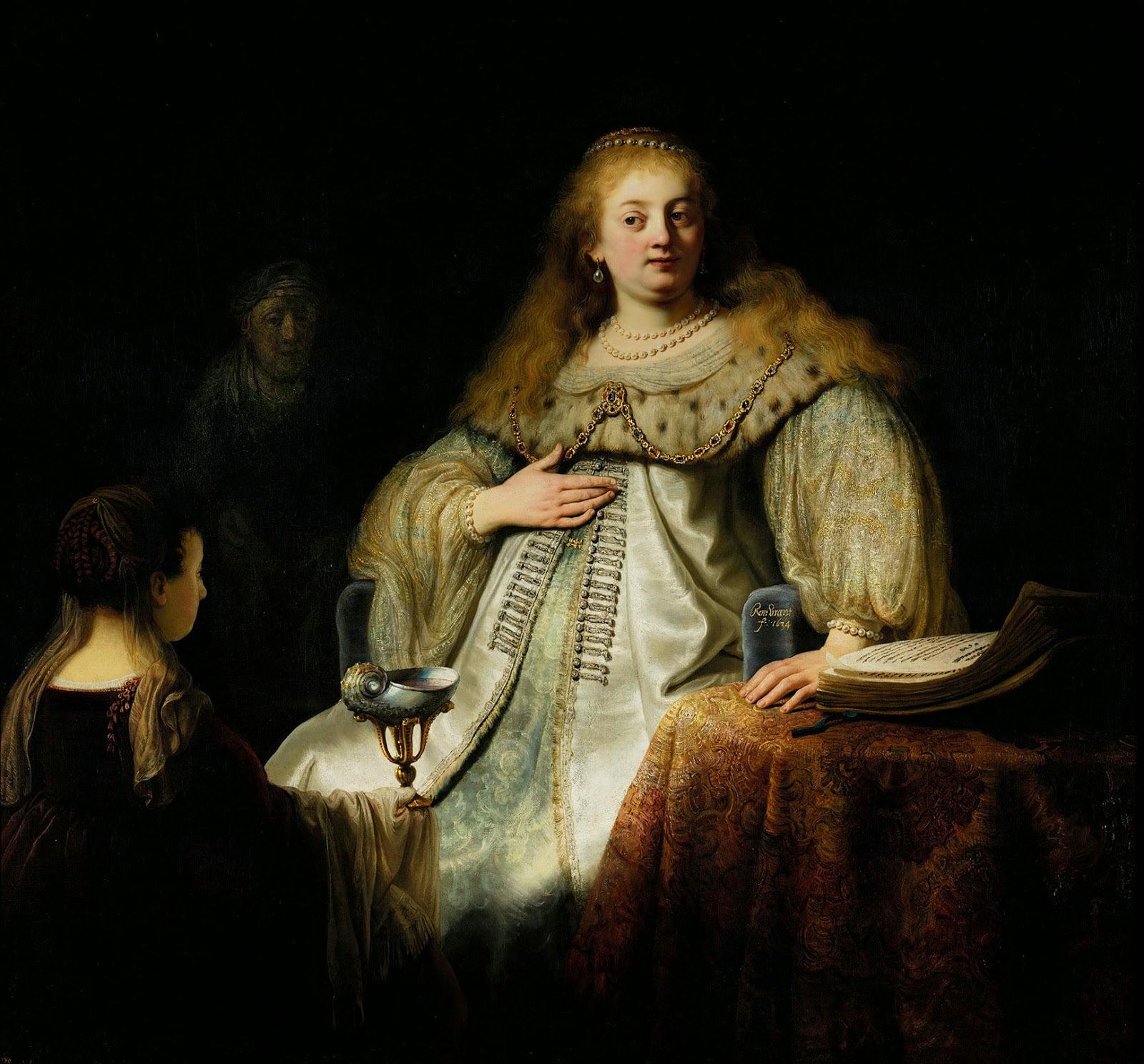 Рембрандт. Artemisia. Артемида. Музей Прадо. Испания