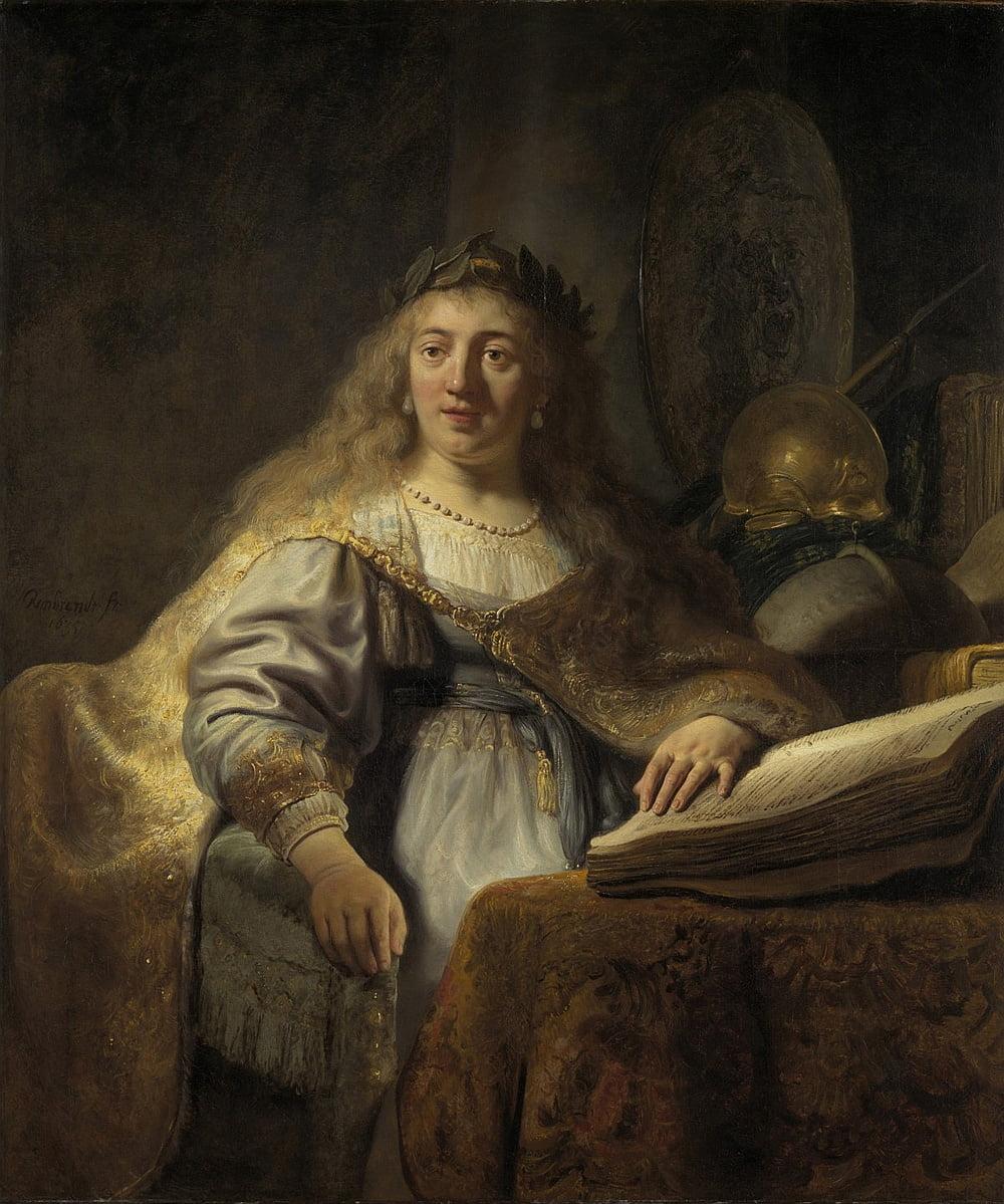 Рембрандт. Минерва в своем кабинете