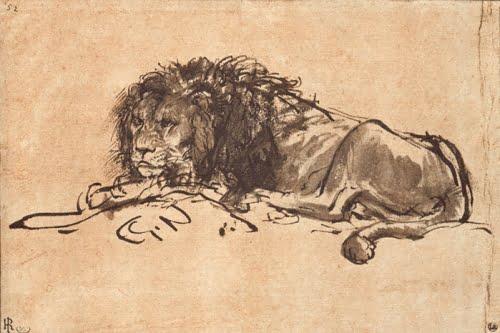 Рембрандт. Молодой лев
