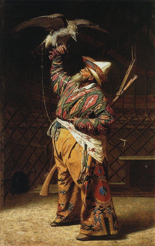 «Богатый киргизский охотник с соколом». Василий Верещагин