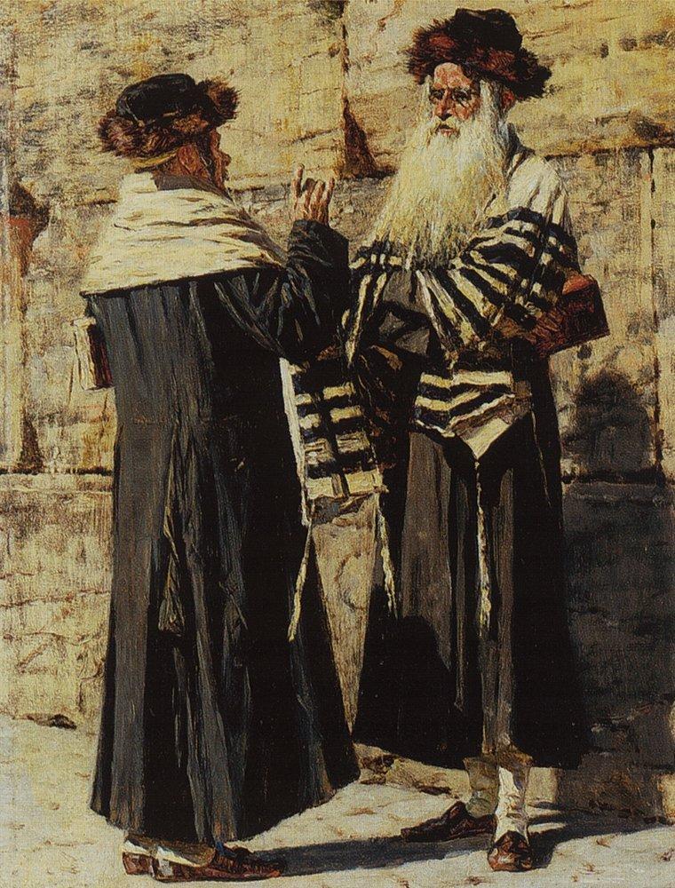 Два еврея. 1884 год. Василий Верещагин