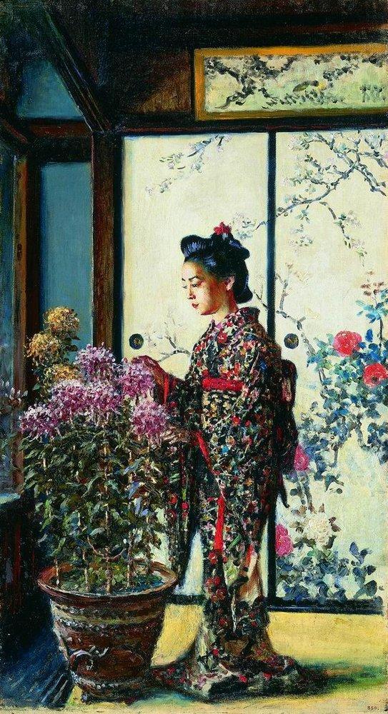 """Японка"". Василий Верещагин. 1903 год"