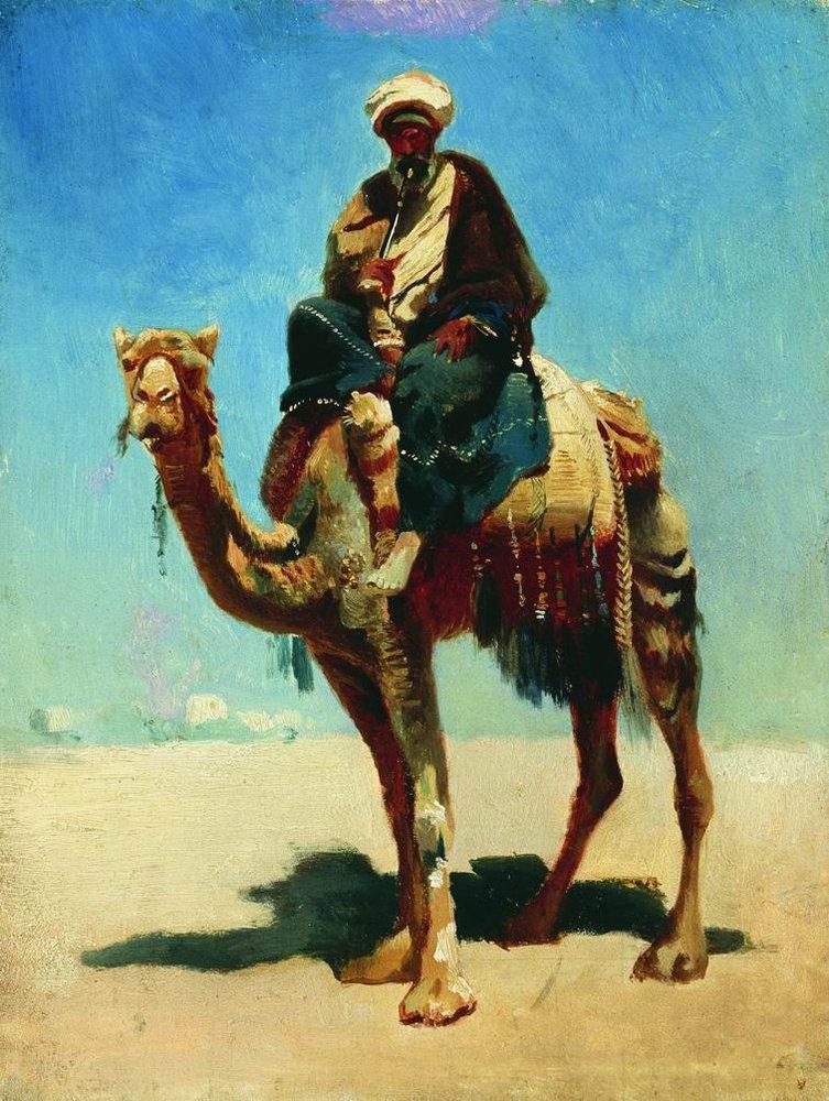"""""""Араб на верблюде"""". 1870 год. Василий Верещагин"""