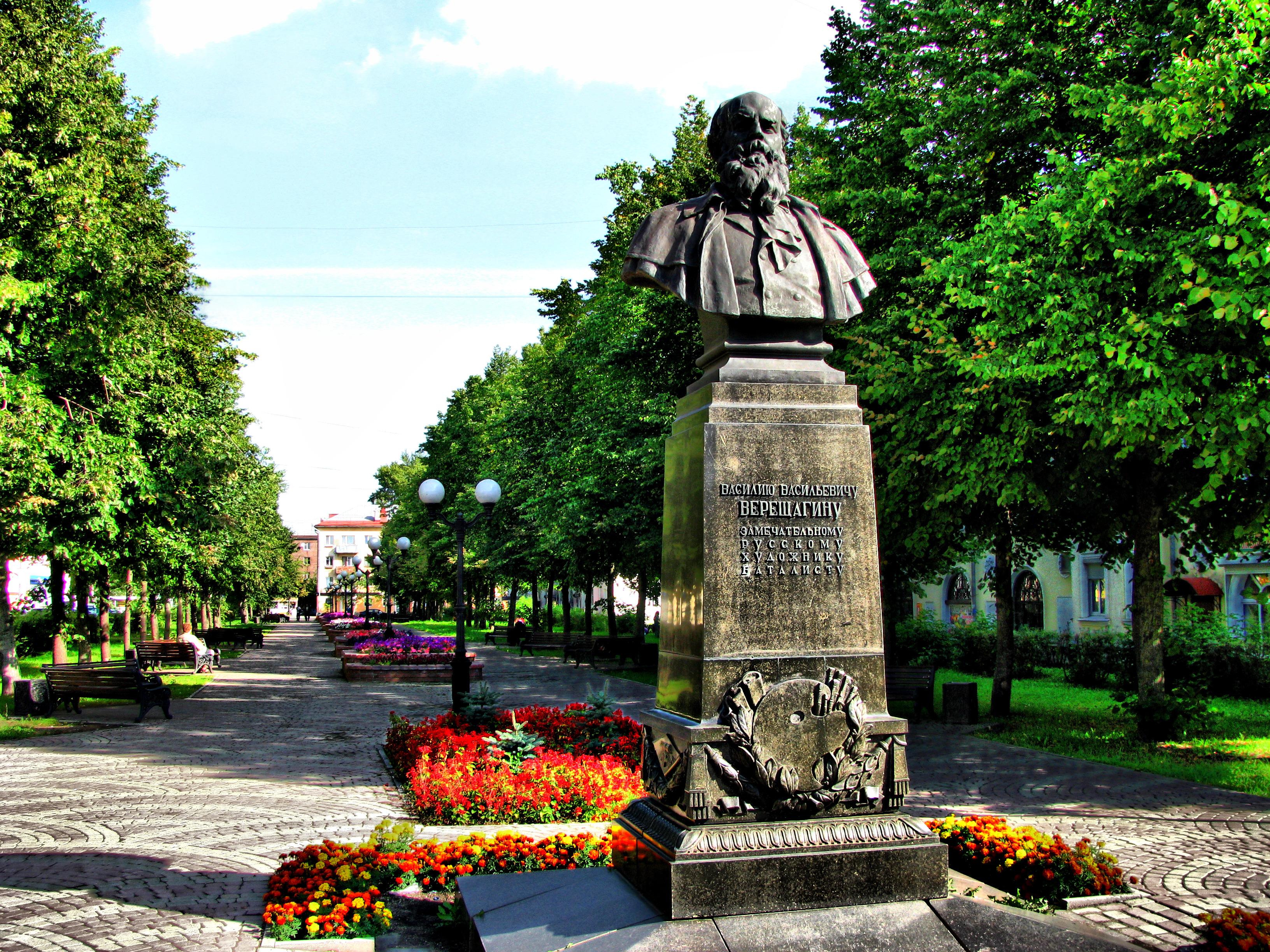 Памятник Василию Верещагину в Череповце