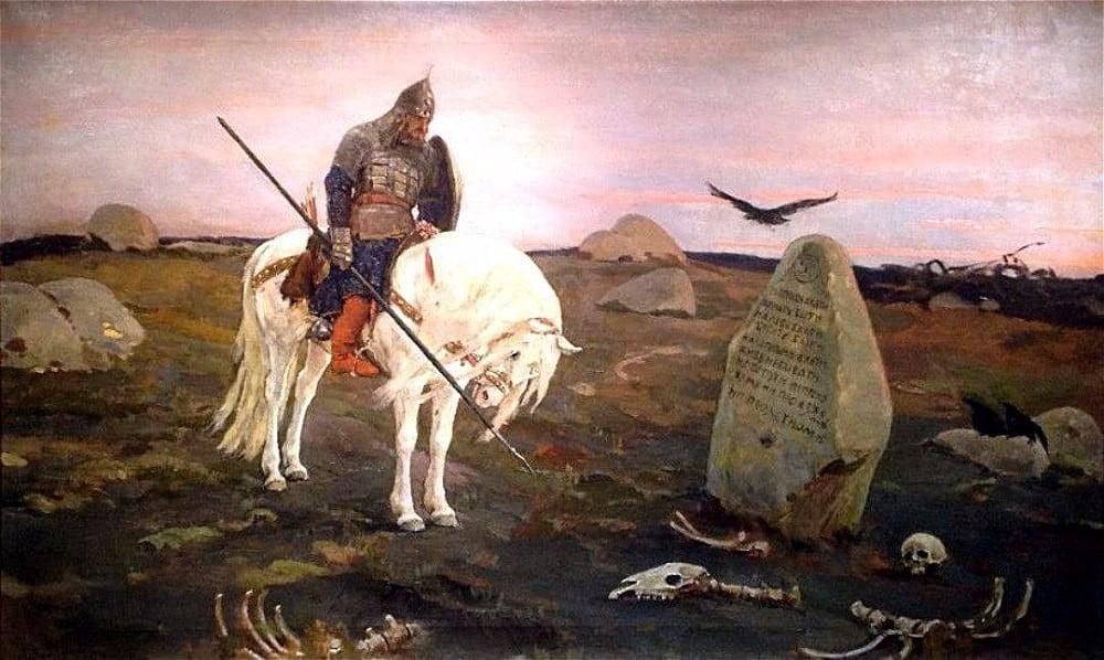"""""""Воин в шлеме с кольчужкой"""". Виктор Васнецов"""