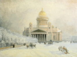 Исаакиевский собор в морозный день. Айвазовский
