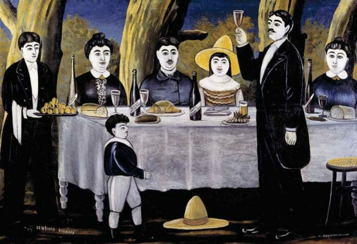 Семейная компания. Пиросмани 1907