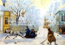 Кустодиев.Морозный день