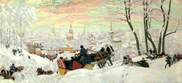 МАСЛЕНИЦА. Кустодиев. 1916. Русский музей (Санкт-Петербург)