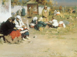 А. Е. Архипов. Радоница (Перед обедней). 1892