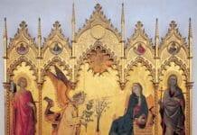 Благовещение. Симоне Мартини. 1333. Уффици, Флоренция