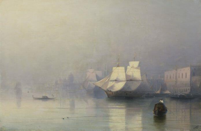 Иван Айвазовский. Утро в Венеции (Венеция в тумане). Иркутский художественный музей